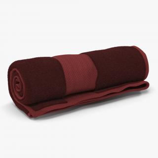 3D Rolled Towel Red