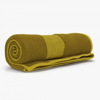 Rolled Towel Yellow 3D model