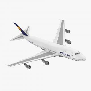 Boeing 747-100B Lufthansa Rigged 3D