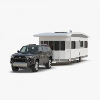3D Toyota 4Runner and Hobby Caravan Landhaus