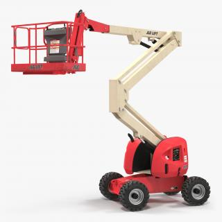 3D Telescopic Boom Lift JLG 450AJ Red Rigged