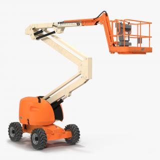 Telescopic Boom Lift Generic 2 Rigged 3D