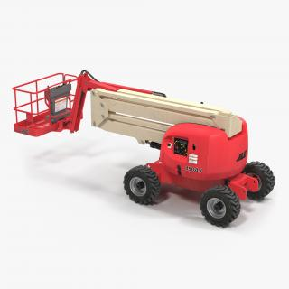 Telescopic Boom Lift JLG 450AJ Red 3D model