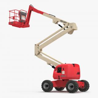 3D Telescopic Boom Lift JLG 450AJ Red 2