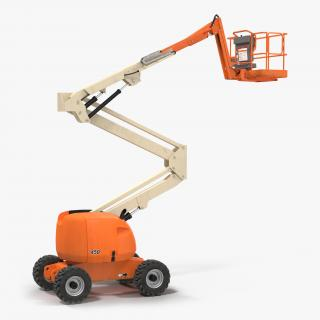 Telescopic Boom Lift Generic 2 Pose 2 3D