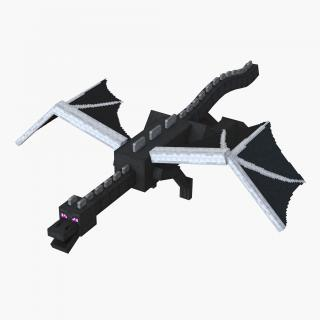 Minecraft Ender Dragon Rigged 3D model