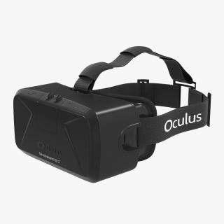 Virtual Reality Headset Oculus DK2 3D model