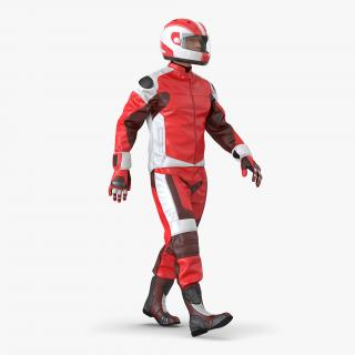 3D Motorcycle Rider Generic 2 Rigged model