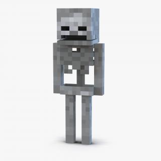 3D Minecraft Skeleton model
