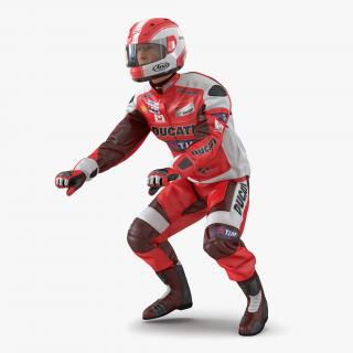 3D model Motorcycle Rider 2 Rigged