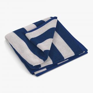Beach Towel 2 White 3D model