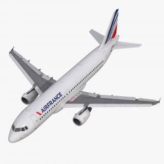 Airbus A320 Air France Rigged 3D model