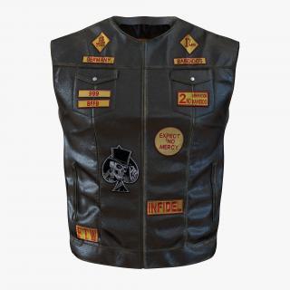 3D Leather Biker Vest model