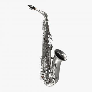 3D Silver Saxophone