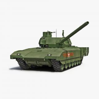 3D Russian Main Battle Tank T-14 Armata Rigged model