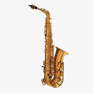 3D Golden Saxophone