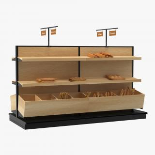 3D model Bakery Display with Bread