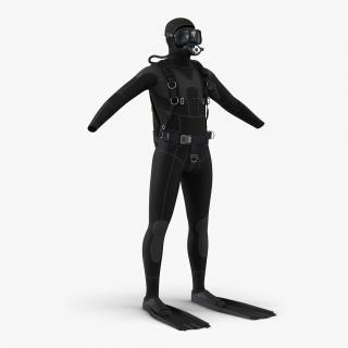 Scuba Diving Equipment 3D