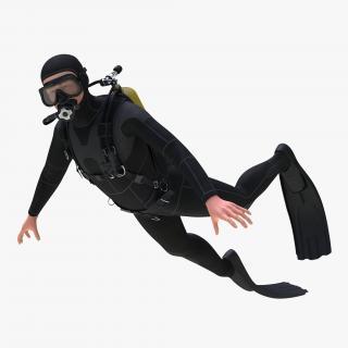 Diver Rigged 3D