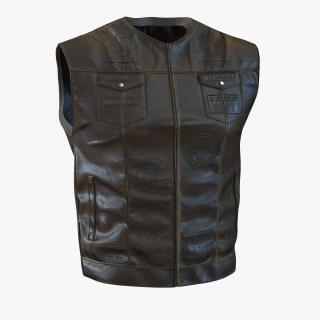 3D Leather Biker Vest Generic 2 model