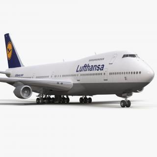 3D model Boeing 747-200B Lufthansa