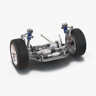 3D model SUV Front Suspension