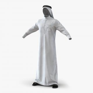 Traditional Arab Men Dress Kandura 3D model