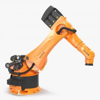 3D Kuka Robot KR-600 FORTEC Rigged