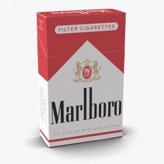 3D Closed Cigarettes Pack Marlboro