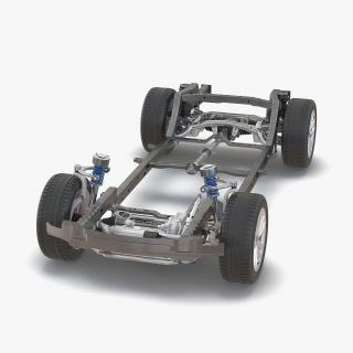 SUV Chassis Frame 3D