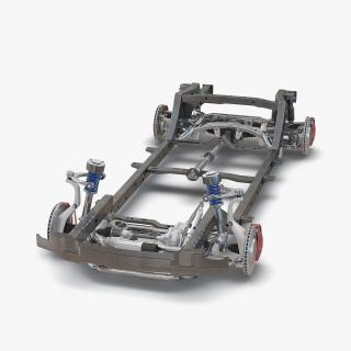 SUV Chassis Frame 2 3D model