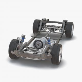 SUV Chassis Frame 3 3D model