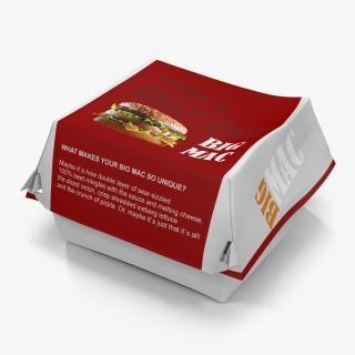 3D model Burger Box 2 Big Mac