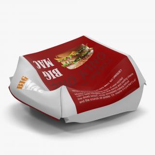 Crumpled Burger Box Big Mac 3D
