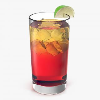 Glass of Punch with Lime 3D model