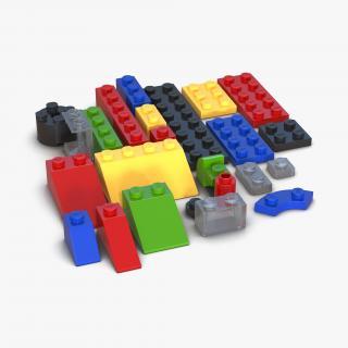 3D model Lego Bricks Set