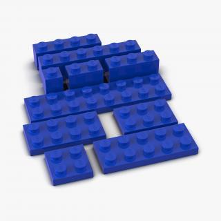 Lego Bricks Set 2 3D Models 3D