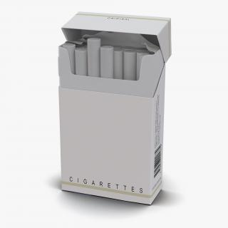 Opened Cigarettes Pack 3D