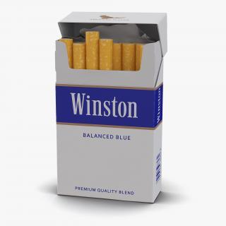 3D model Opened Cigarettes Pack Winston