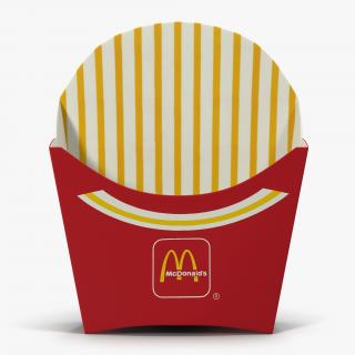3D model Empty French Fry Box McDonalds