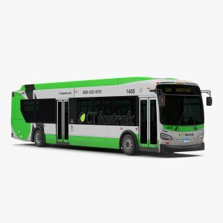 New Flyer Xcelsior XD40 Bus CTfastrak 3D