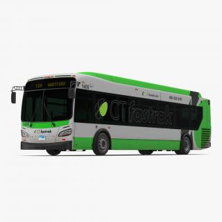 3D New Flyer Xcelsior XD40 Bus CTfastrak Simple Interior model