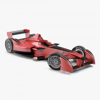 3D Formula E Race Car Generic Rigged model