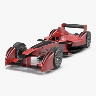 3D Formula E Race Car Generic