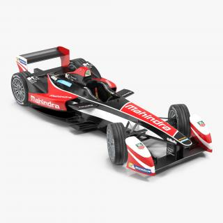 Formula E Race Car Mahindra Rigged 3D model