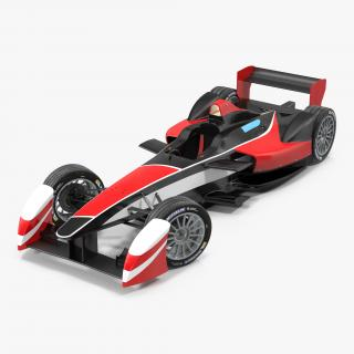 3D model Formula E Race Car Generic 2 Rigged