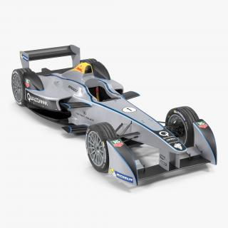 Formula E Race Car Qualcomm 3D