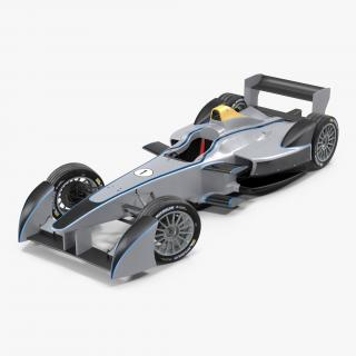 3D model Formula E Race Car Generic 3 Rigged
