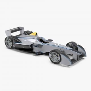 3D Formula E Race Car Generic 3 model