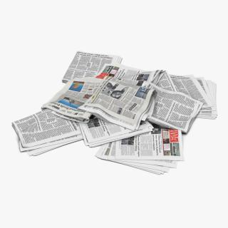 3D Newspaper Litter 3 model